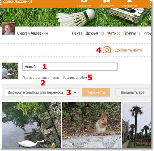 Как создать фотоальбом в однокласниках.ру